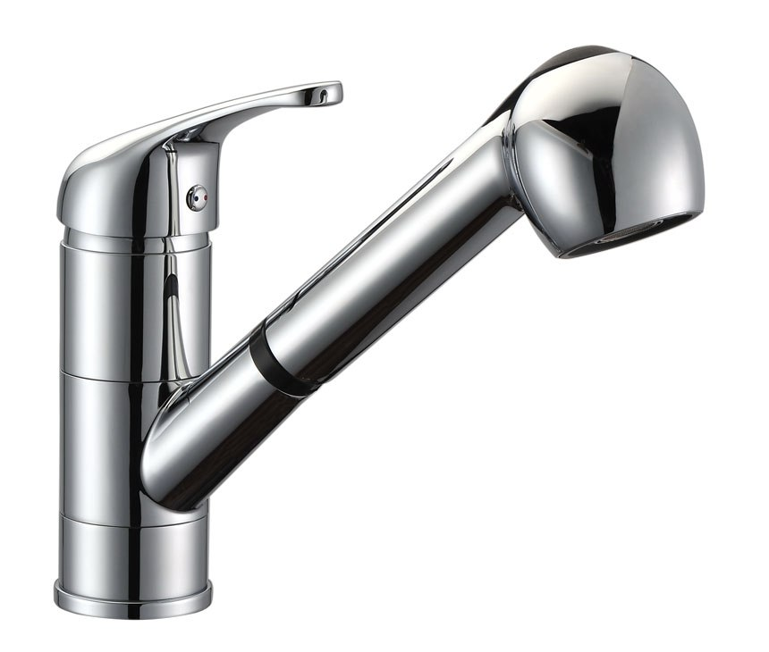 DOWELL USA 8002 001 SINGLE HANDLE PULL OUT KITCHEN FAUCET