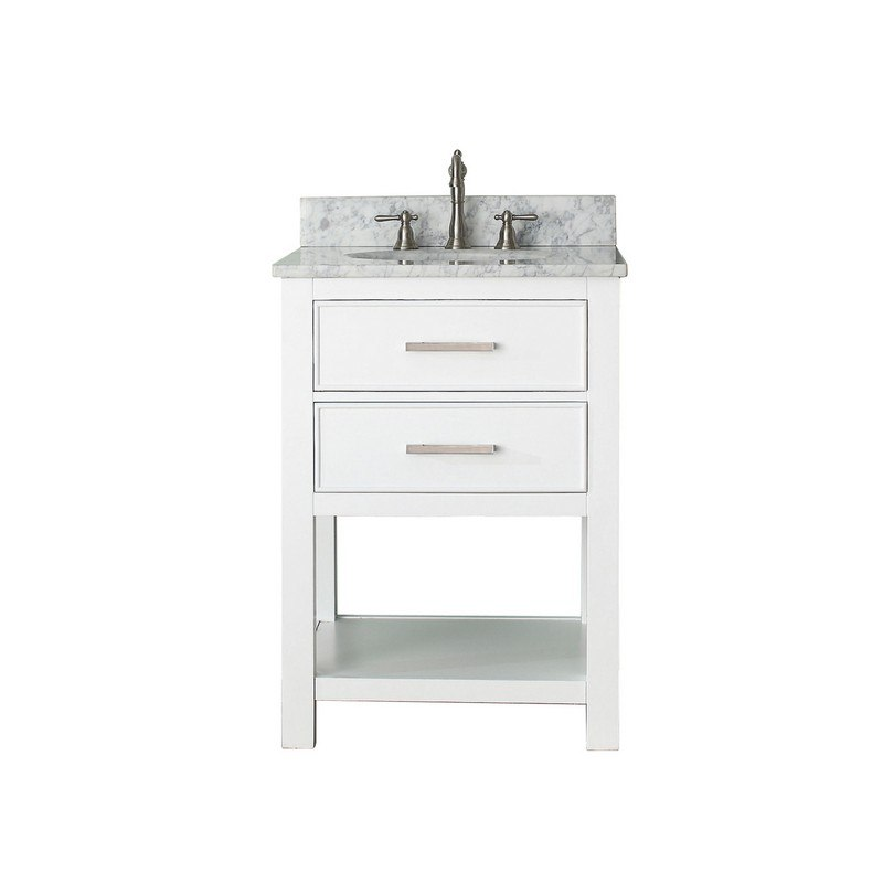 Avanity Brooks Vs24 Wt C 24 Inch, 24 Inch Bathroom Vanity Combo