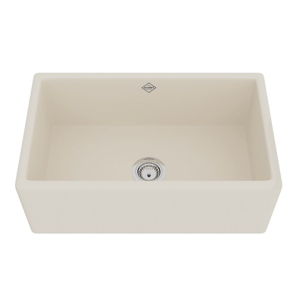 Rohl MS3018 Shaws Classic  30 Inch Shaker Modern Single Bowl Apron Front Fireclay Kitchen Sink