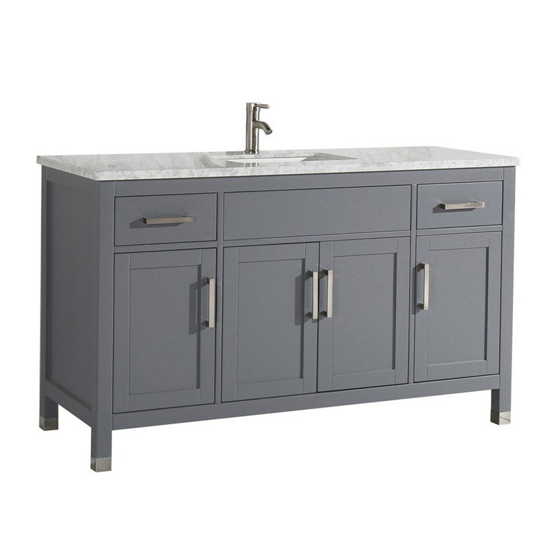 60 Inch Single Sink Bathroom Vanity