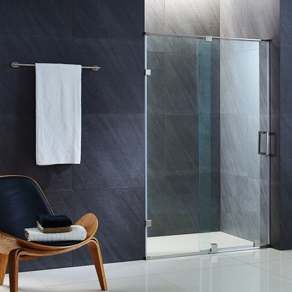 Vigo vg6045 6073 ryland 60 inch frameless shower door with 38 vigo vg6045cl6073 ryland 60 inch frameless shower door with 38 inch clear glass planetlyrics Image collections