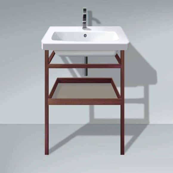 DURAVIT DS9881 DURASTYLE 23-1/4 X 17-3/8 INCH FURNITURE-ACCESSORY TOWEL RAIL WITH INCLUDED SHELF FOR 232065 WASHBASIN