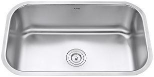 Ruvati RVM4250 Parmi Undermount 16 Gauge 30 Inch Kitchen Sink Single Bowl