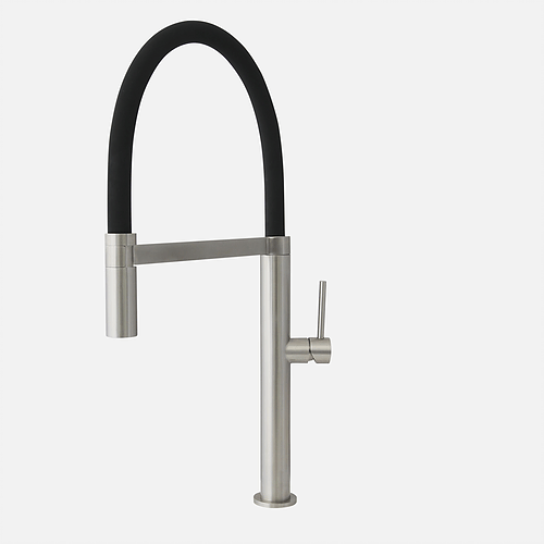 STYLISH K-140B PULL OUT SINGLE HANDLE STAINLESS STEEL KITCHEN FAUCET