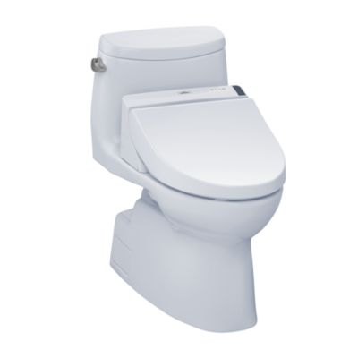 TOTO MW6142044CEFG#01 CARLYLE II CONNECT+ C200 ONE-PIECE TOILET, 1.28 GPF WITH SANAGLOSS