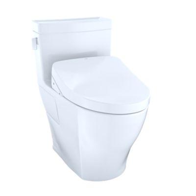 Toto Mw6243046cefg 01 Legato Washlet Kit One Piece Elongated 1 28 Gpf Toilet And Contemporary Lid Washlet S500e