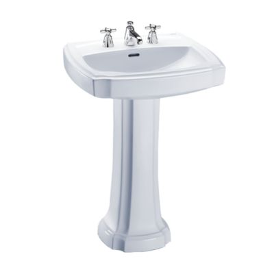TOTO LPT972 GUINEVERE 24-3/8 X 19-7/8 INCH PEDESTAL LAVATORY WITH SINGLE HOLE