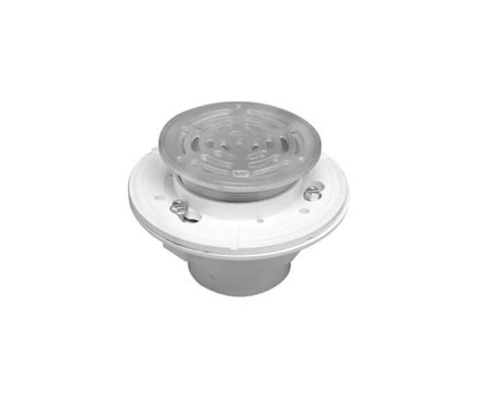 MOUNTAIN PLUMBING MT509P 6 INCH PVC ROUND COMPLETE SHOWER DRAIN