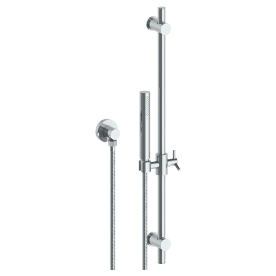 WATERMARK 31-HSPB1-BK BROOKLYN 27 INCH POSITIONING BAR SHOWER KIT WITH SLIM HAND SHOWER AND 69 INCH HOSE