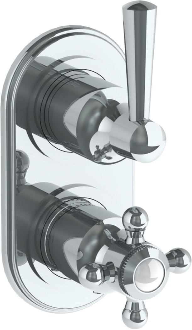 WATERMARK 312-T25 GRAMERCY 6 1/4 X 3 1/8 INCH WALL MOUNT THERMOSTATIC SHOWER TRIM WITH BUILT-IN CONTROL