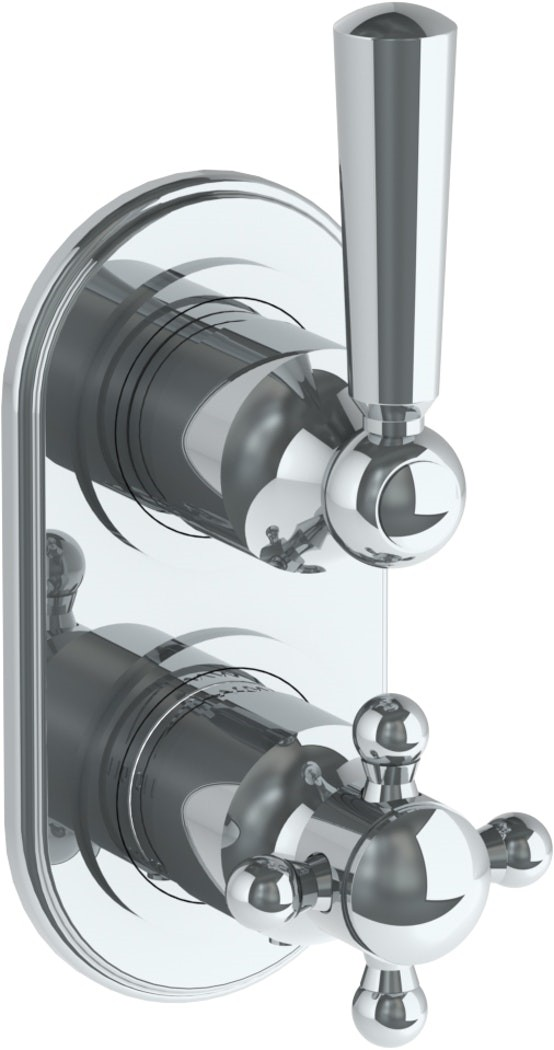 WATERMARK 313-T25 YORK 6 1/4 X 3 1/8 INCH WALL MOUNT THERMOSTATIC SHOWER TRIM WITH BUILT-IN CONTROL