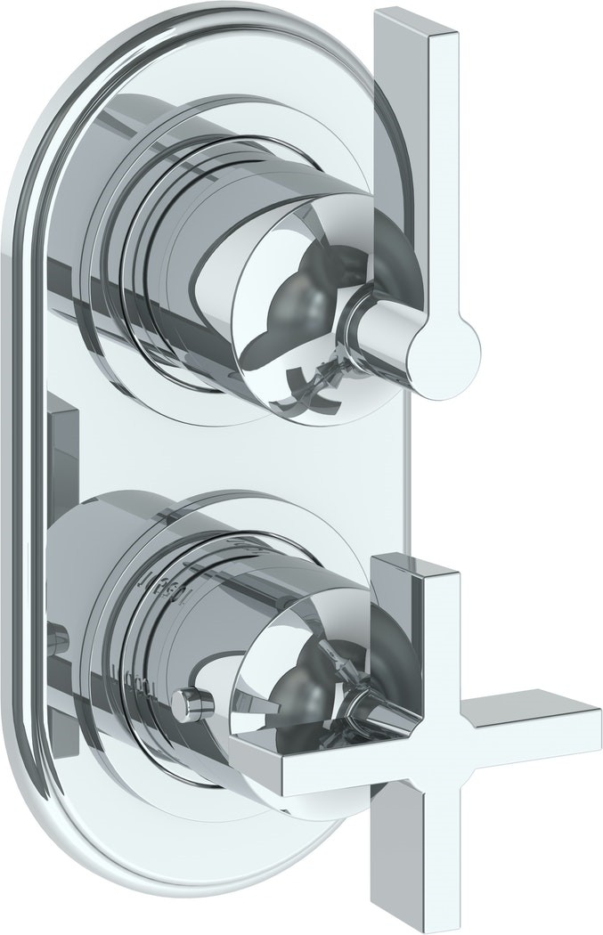 WATERMARK 34-T25 HALEY 6 1/4 X 3 1/8 INCH WALL MOUNT THERMOSTATIC SHOWER TRIM WITH BUILT-IN CONTROL