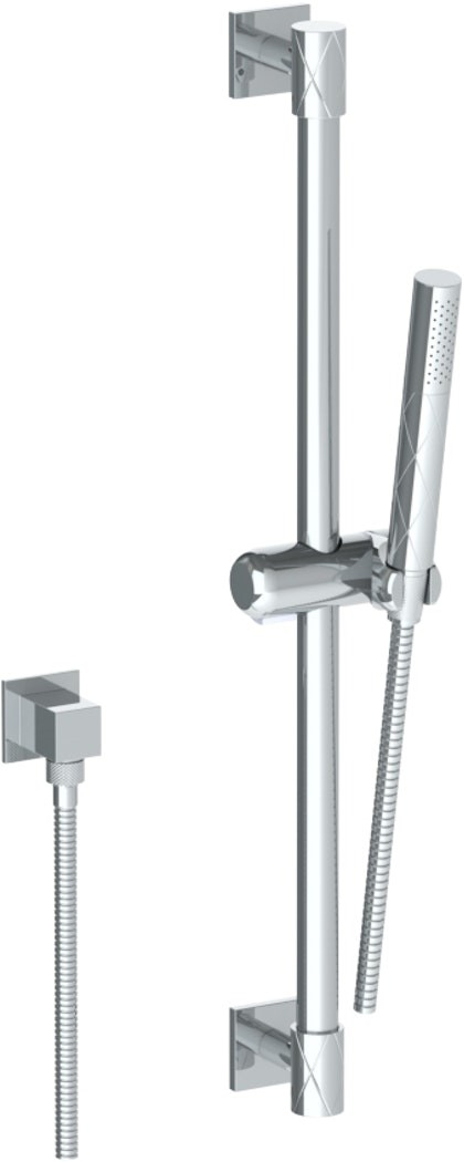 WATERMARK 71-HSPB1 LILY 25 5/8 INCH POSITIONING BAR SHOWER KIT WITH SLIM HAND SHOWER AND 69 INCH HOSE