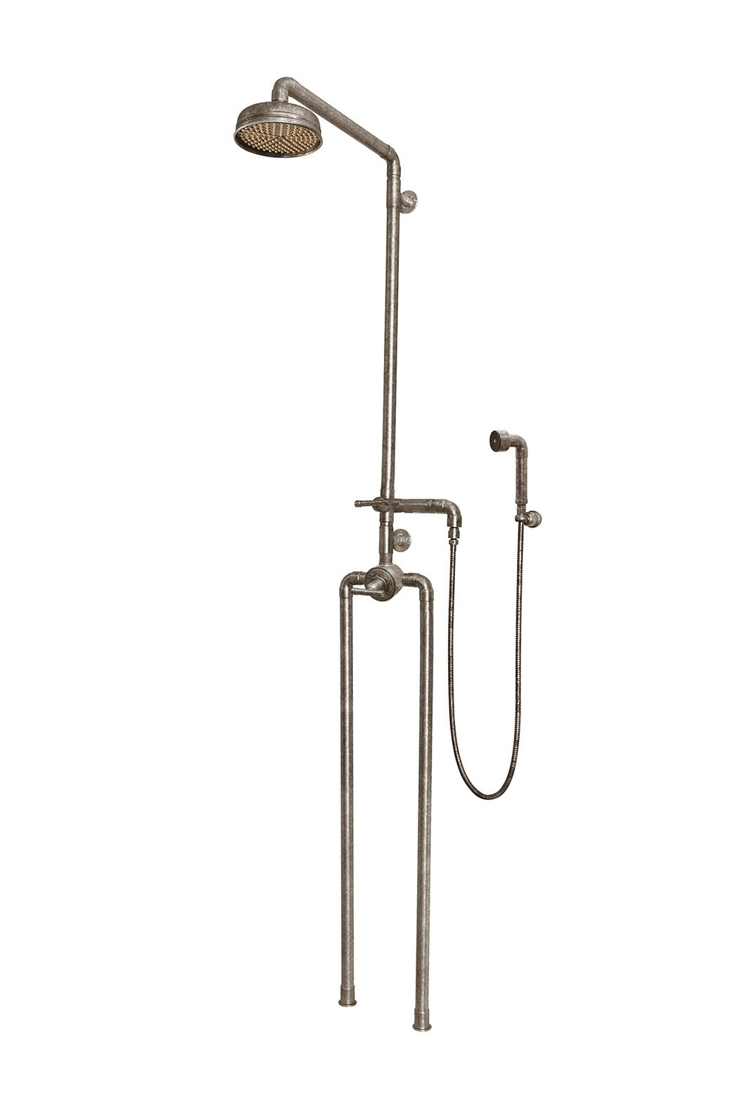SONOMA FORGE WB-SHW-1150 WATERBRIDGE 91 1/2 INCH FLOOR MOUNT EXPOSED THERMOSTATIC SHOWER SYSTEM WITH HAND SHOWER
