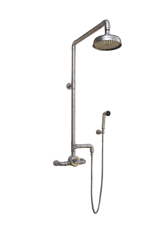 SONOMA FORGE WB-SHW-950 WATERBRIDGE 43 3/4 INCH WALL MOUNT EXPOSED THERMOSTATIC SHOWER SYSTEM WITH HAND SHOWER