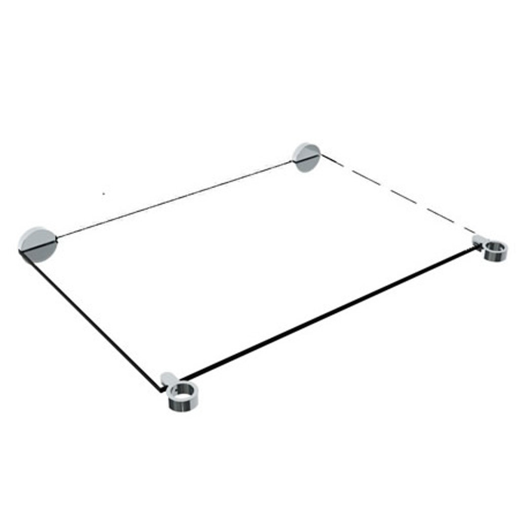 WATERMARK CON36-URB-0.8 URBANE 31 1/2 INCH WALL MOUNT TEMPERED GLASS SHELF FOR 36 INCH CONSOLE