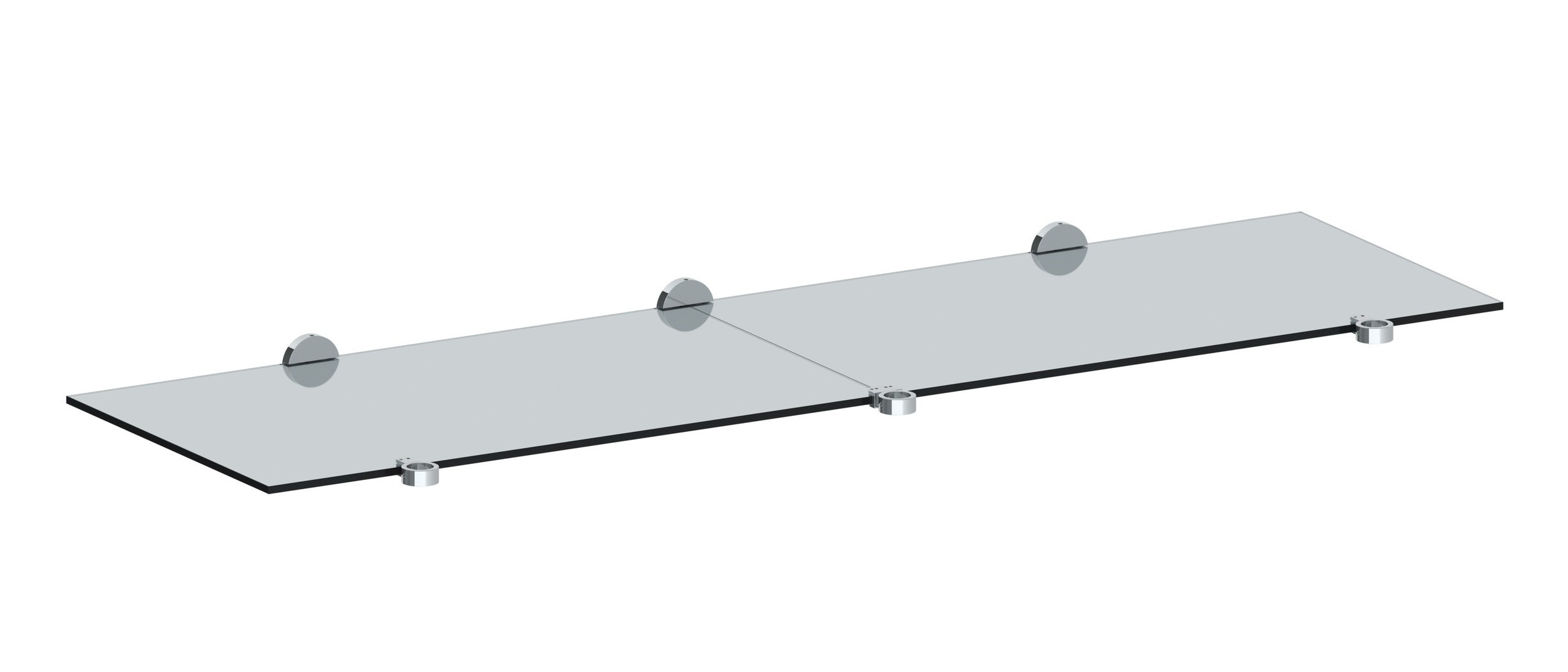 WATERMARK CON72-SUT-0.8 SUTTON 63 INCH WALL MOUNT TEMPERED GLASS SHELF FOR 72 INCH DOUBLE CONSOLE
