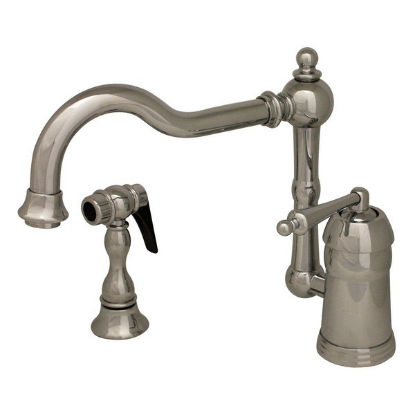 Whitehaus 3-3190-C Legacyhaus Single Faucet with Traditional Swivel Spout and Side Spray