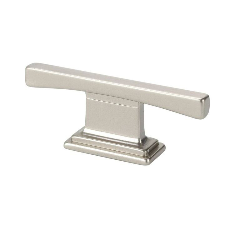 TOPEX 9-1336001635 THIN SQUARE TRANSITIONAL T CABINET PULL SATIN NICKEL CENTER TO CENTER 0.63 INCHES