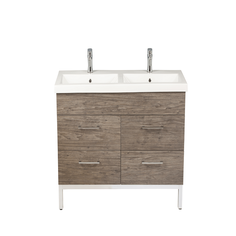 Empire Industries Dk48 04isn1 Infinity 48 Inch Double Vanity Cabinet With Sink In Santorini