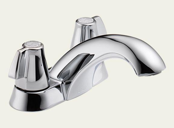 Delta 2500LF Classic Two Handle Centerset Lavatory Faucet - Less Pop-Up