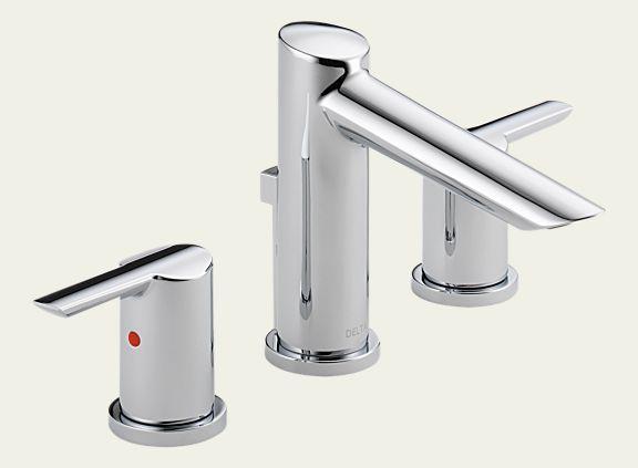 Delta 3561-MPU-DST Compel Widespread Bath Faucet with Metal Pop-Up