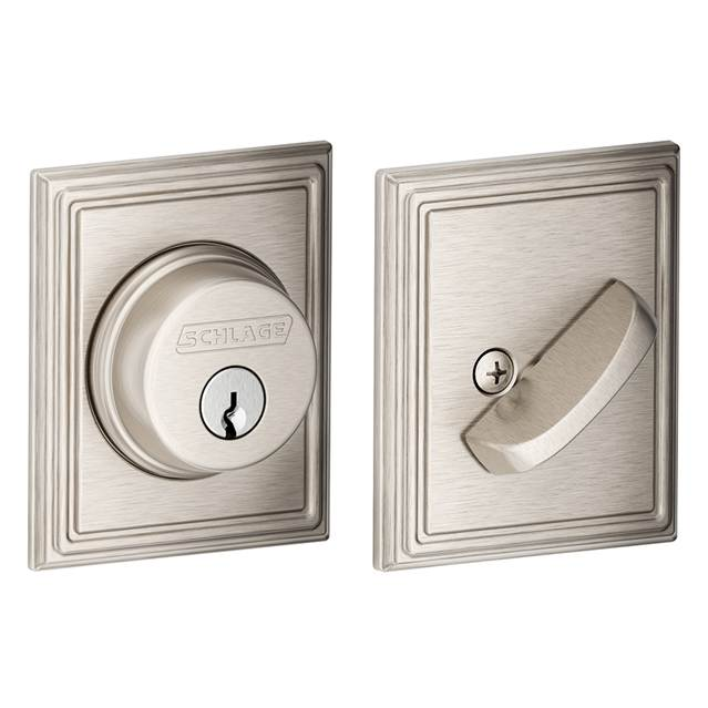 Schlage Residential B60ADD B Series Deadbolt with Addison Rose  Single Cylinder