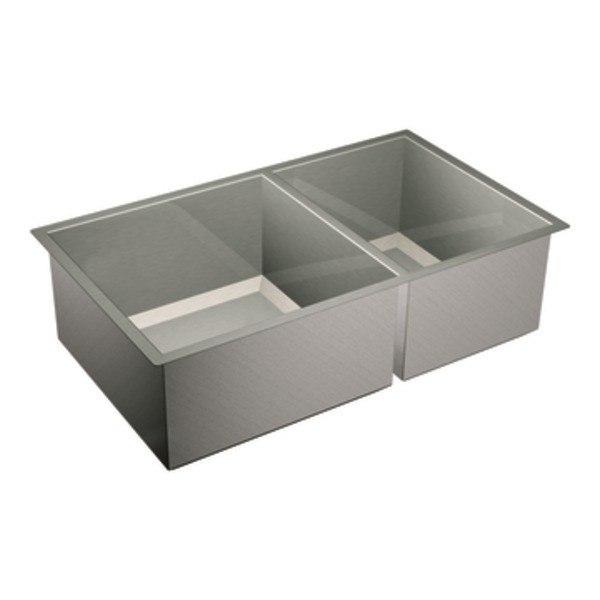 Moen 7565 Align One Handle High Arc Pulldown Kitchen Faucet Sink Moen Moen Sink Sinks Double Bowl Single Bowl