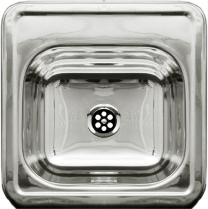WHITEHAUS WH692ABL 15 INCH SQUARE DROP-IN ENTERTAINMENT/PREP SINK W/ A SMOOTH SURFACE