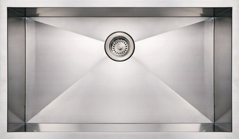 WhiteHaus WHNCM3219 32 Inch Noah's Collection Commercial Single Bowl Undermount Sink