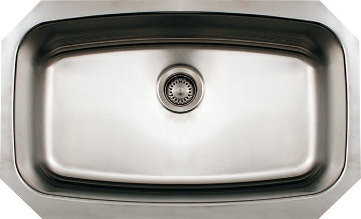WHITEHAUS WHNCUS2917 29 1/2 INCH NOAH'S COLLECTION SINGLE BOWL UNDERMOUNT SINK
