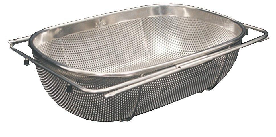WhiteHaus WHNEXC01 13 1/2 Inch Over the Sink Extendable Colander/Strainer
