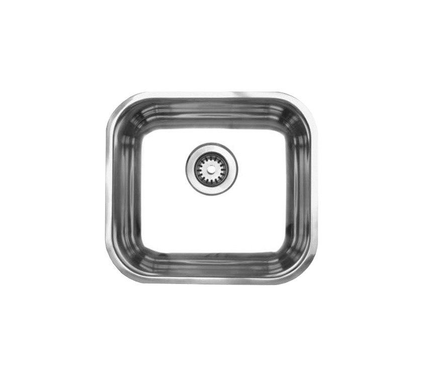 WhiteHaus WHNU1614 15 1/4 Inch Noah's Collection Single Bowl Undermount Sink