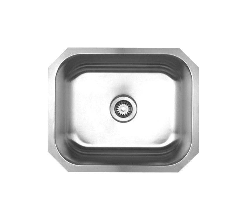 WhiteHaus WHNU2016 22 1/4 Inch Noah's Collection Single Bowl Undermount Sink