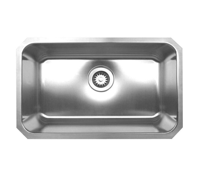 WhiteHaus WHNU2816 30 1/4 Inch Noah's Collection Rectangular Single Bowl Undermount Sink