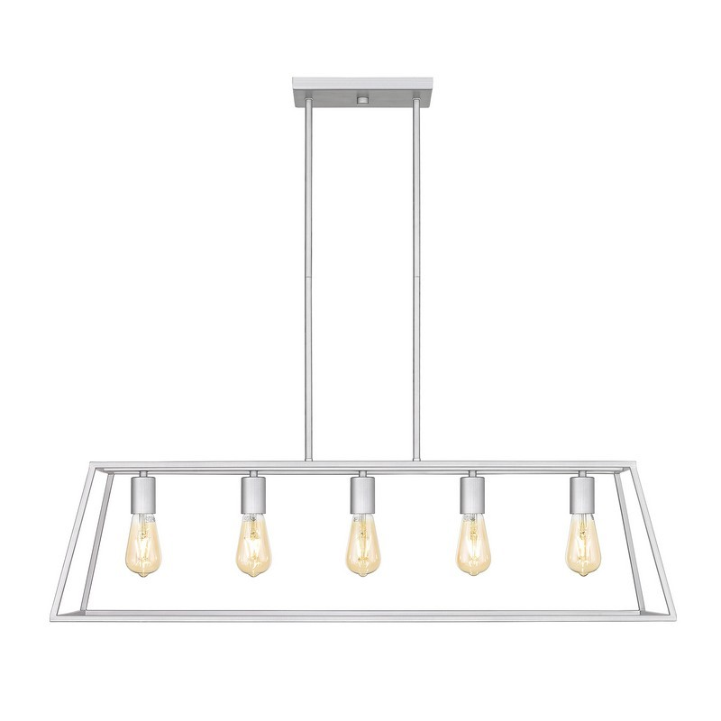 OVE DECORS 15LPE-ADE238-PNBKY ADELE 5-LIGHT 38 INCH PENDANT LIGHT IN BRUSHED NICKEL