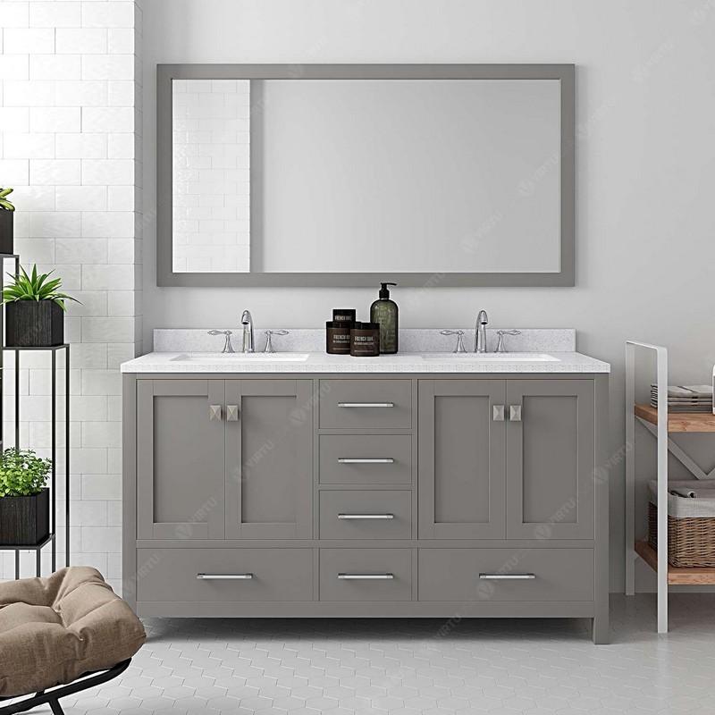 Stufurhome Sl 0024 56 Cr Lang Inch, 56 Bathroom Vanity Double Sink