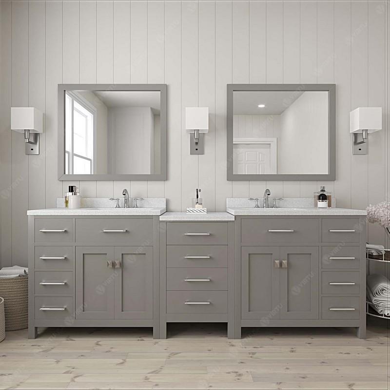 Design Element Dec076d W 92 London 92 Inch Double Sink Vanity In White