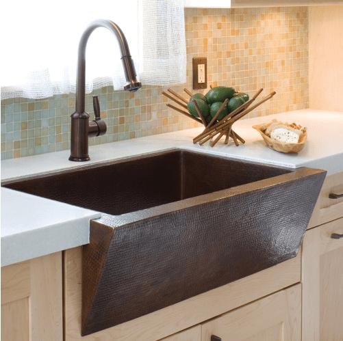 Native Trails CPK90 Zuma 33 Inch Hand Hammered Copper Farmhouse Kitchen Sink