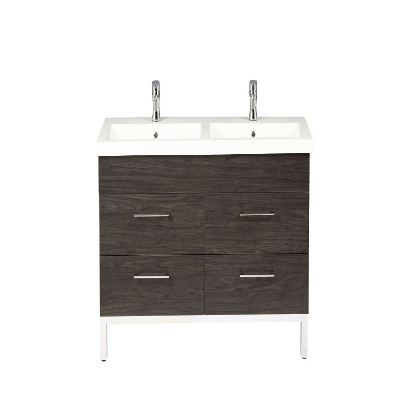 Empire Industries Dk48 04ioa1 Infinity 48 Inch Double Vanity Cabinet With Sink In Oregon Ash