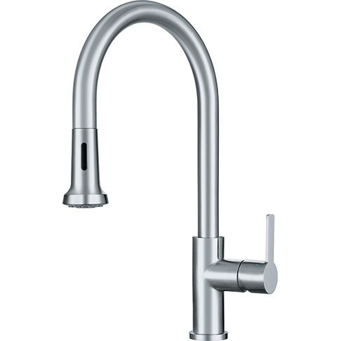 franke ff20650 bernadine pull down kitchen faucet with spray stainless steel - Pull Down Kitchen Faucet