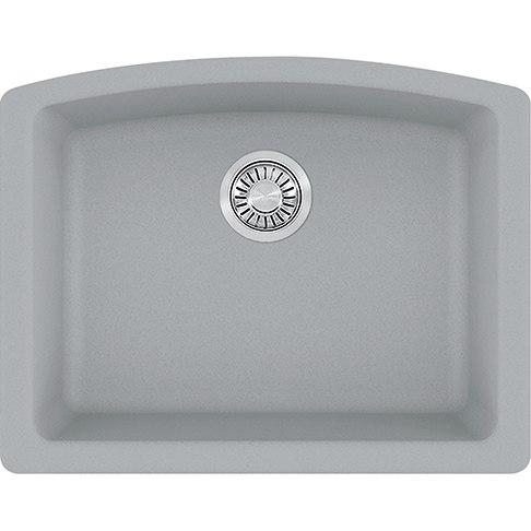 Franke ELG11022SHG Ellipse 25 Inch Undermount Single Bowl Granite Kitchen Sink in Shadow Grey