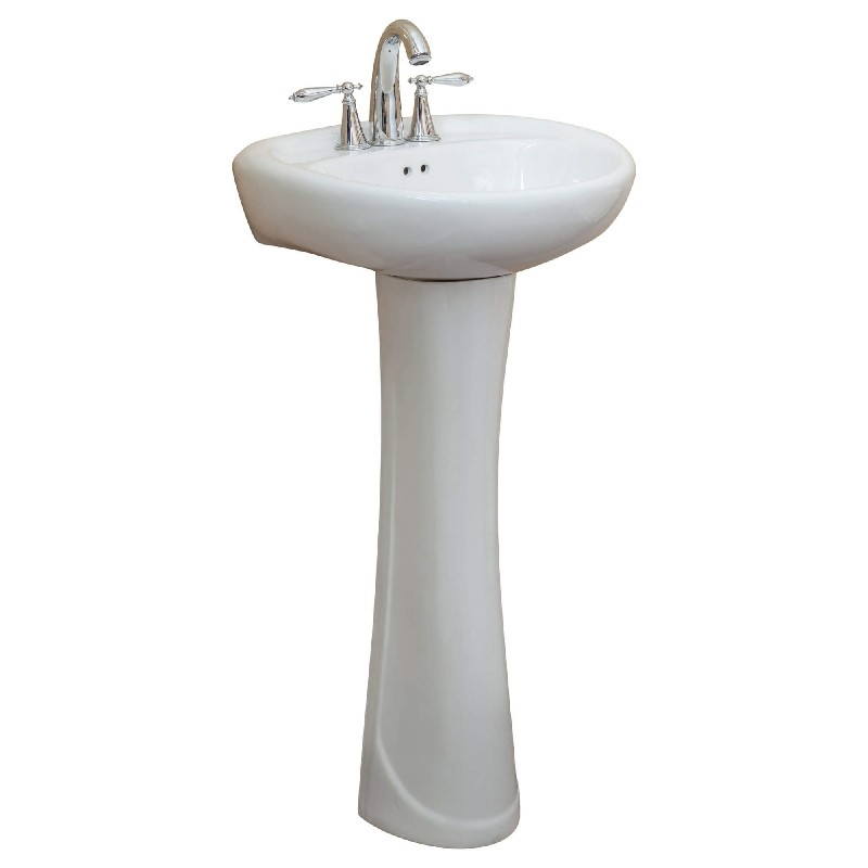 Barclay 3 3021wh Ethan 26 1 2 Inch Single Basin Corner Pedestal Bathroom Sink White 3 3021wh 33021wh