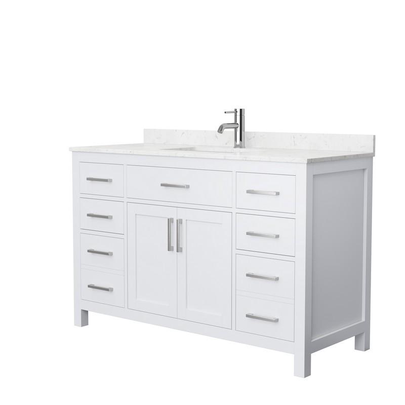Design Element Ml 54 Wt Milano 54 Inch Single Sink Vanity In White
