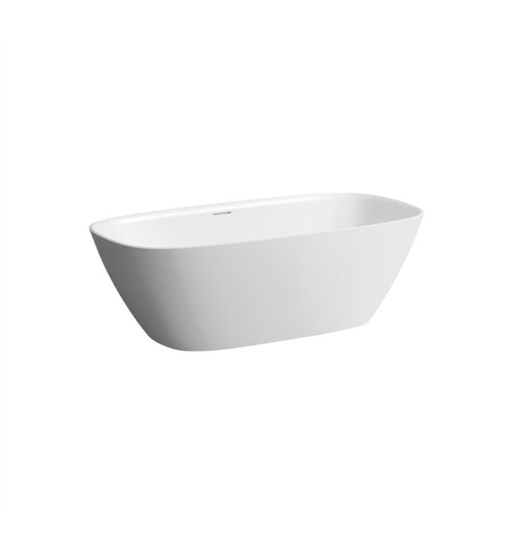 LAUFEN H231302000000U INO 66 7/8 INCH SOLID SURFACE FREESTANDING BATHTUB - WHITE