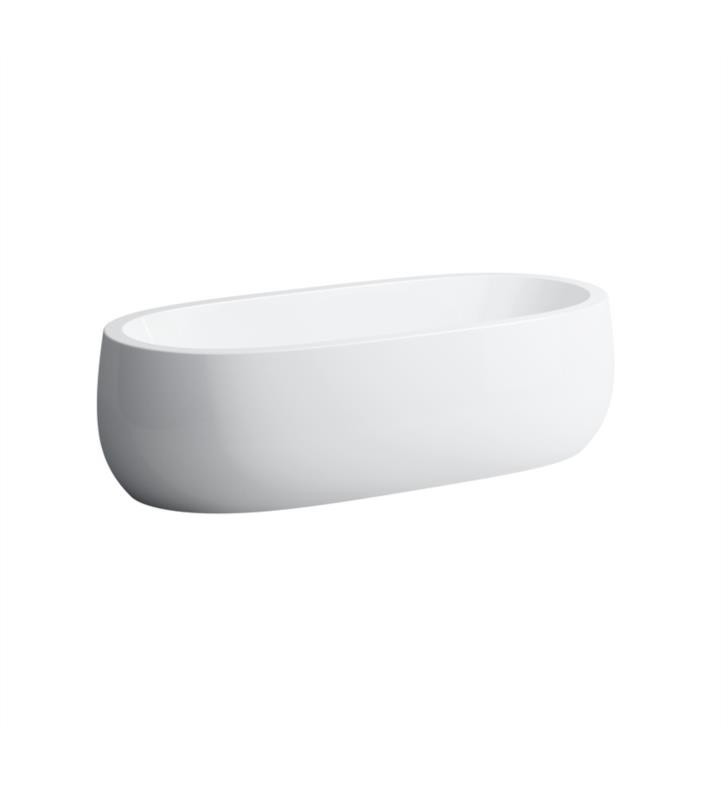 LAUFEN H245972000000U ILBAGNOALESSI ONE 72 INCH SOLID SURFACE FREESTANDING BATHTUB WITH LIFTING SYSTEM - WHITE