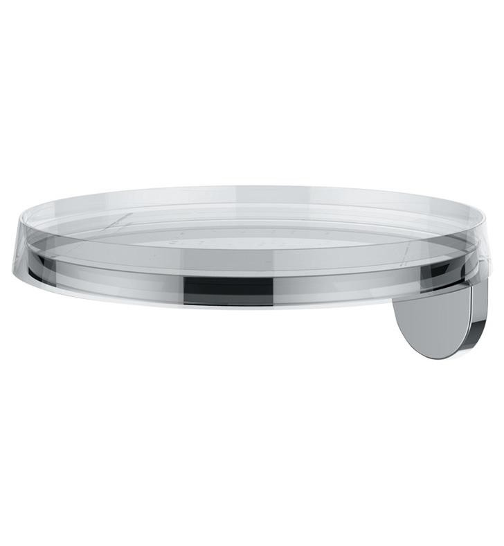 LAUFEN H3853330040001 KARTELL 7 1/4 INCH WALL MOUNT TRAY - TRANSPARENT CRYSTAL