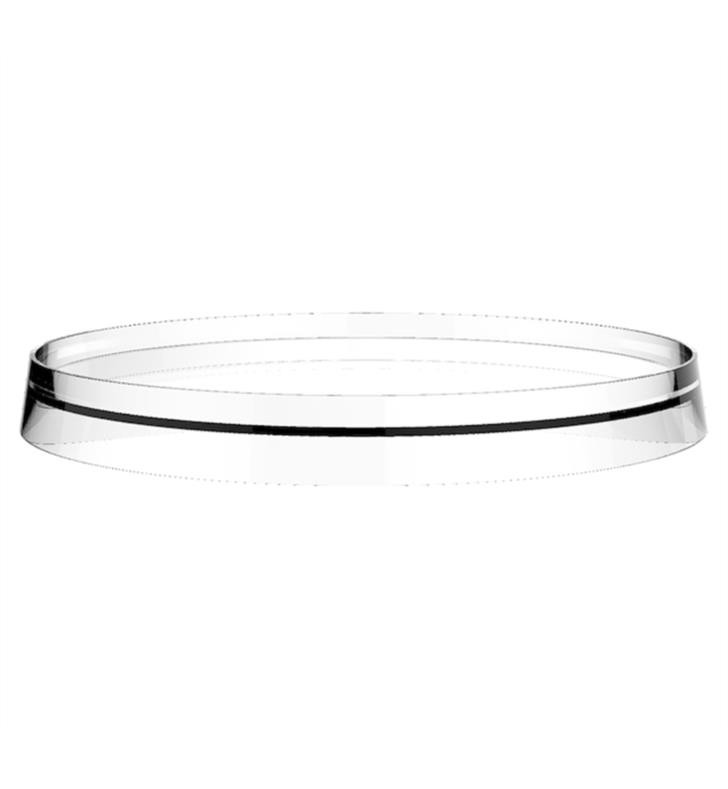 LAUFEN H3983350011 KARTELL 10 7/8 INCH STORAGE TRAY DISC FOR WALL TRAY TOILET PAPER HOLDER AND FAUCETS IN FIRST VERSION