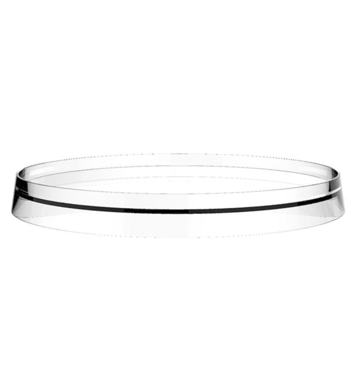 LAUFEN H3983350021 KARTELL 10 7/8 INCH STORAGE TRAY DISC FOR WALL TRAY TOILET PAPER HOLDER AND FAUCETS IN SECOND VERSION
