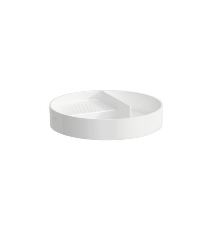 LAUFEN H8702810001 VAL 12 3/4 INCH ROUND STORAGE TRAY FOR BATHROOM SINK
